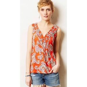Anthropologie Akemi Kin Hauraki Tank coral orange